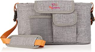 MySweetots 2-in-1 Baby Stroller Organizer and Diaper Bag - New Design, Premium Quality - Comes with Diaper Changing Pad and Leather Shoulder Straps - Awesome Baby Shower Gift
