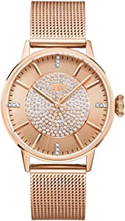 """JBW""""Belle"""" J6339 Women's Pave Diamond Watch with Mesh Band and Diamond Hour Markers"""
