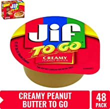 Jif To Go Creamy Peanut Butter, 1.5 oz., 48 Total Cups – Convenient On the Go Pack, 7g of Protein per Serving, Smooth, Creamy Texture – No Stir Natural Peanut Butter