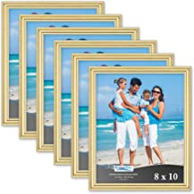 Icona Bay 8x10 Picture Frames (6 Pack, Gold) Picture Frame Set, Wall Mount or Table Top, Set of 6 Inspirations Collection