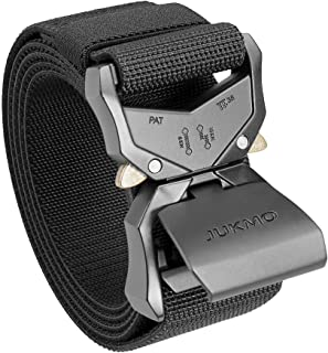 """Sponsored Ad – JUKMO Tactical Belt, Military Hiking Rigger 1.5"""" Nylon Web Work Belt with Heavy Duty Quick Release Buckle"""