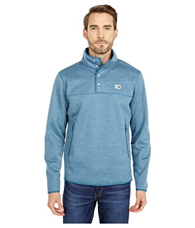 The North Face Sherpa Patrol 1/4 Snap Pullover (Mallard Blue White Heather) Men