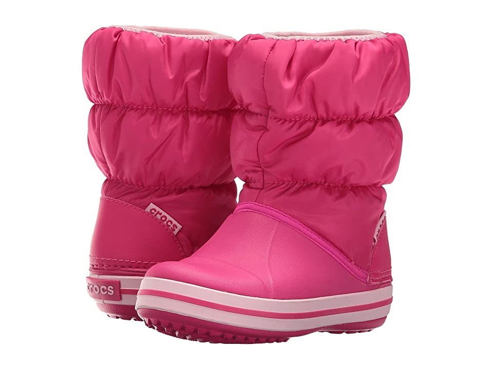 Crocs Kids Winter Puff Boot (Toddler/Youth) (Candy Pink) Kids Shoes