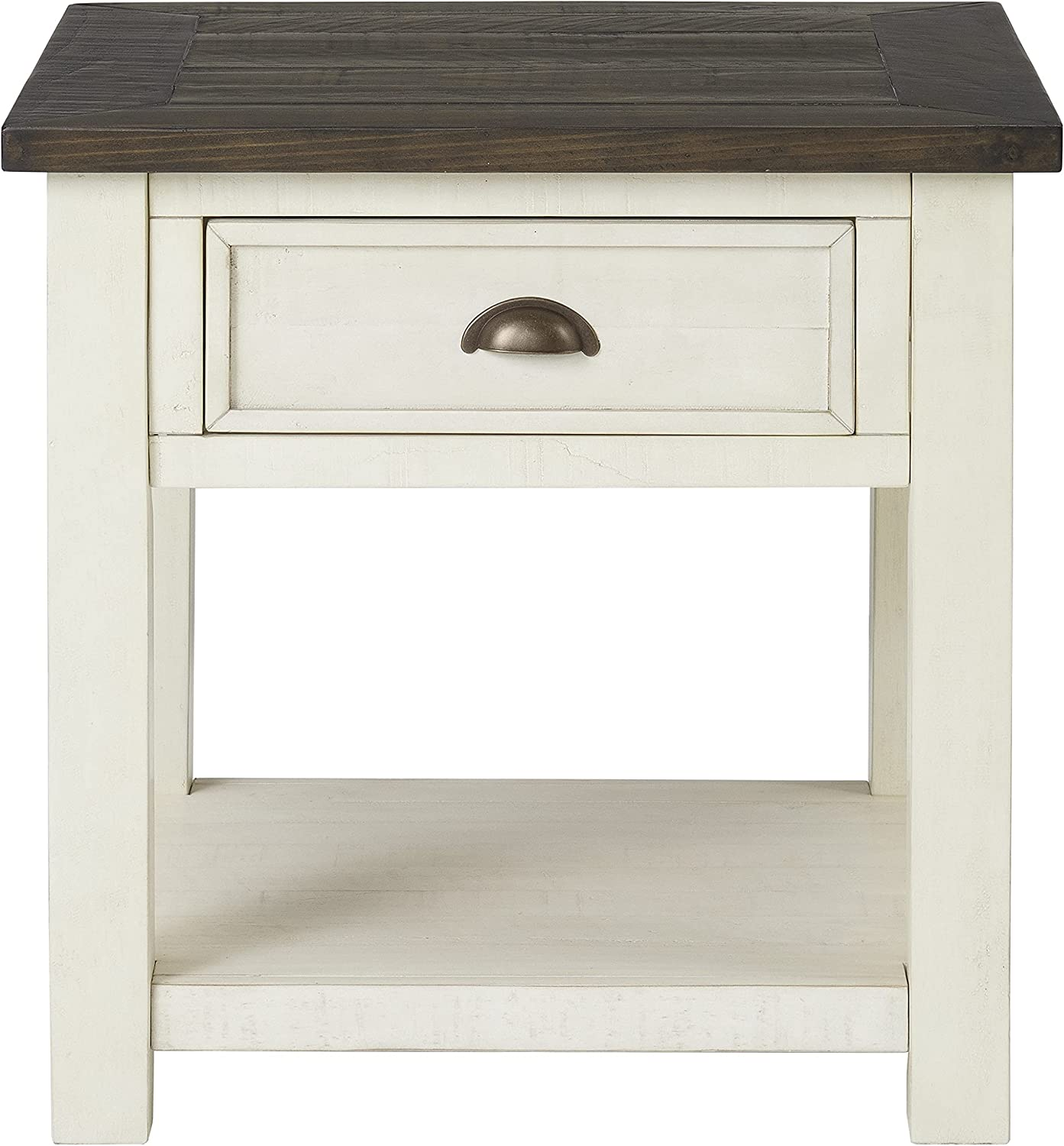 Martin Rare Svensson Home Solid Wood End Table White Brow Portland Mall Cream with
