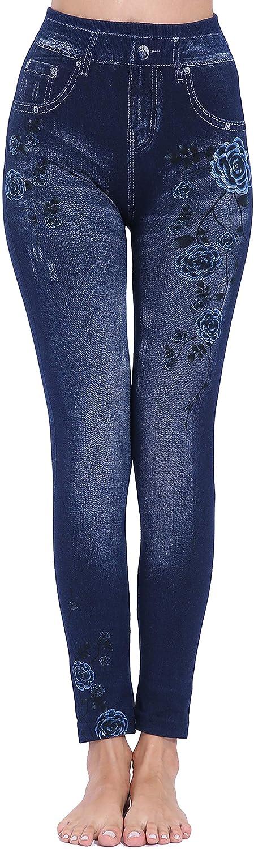 yuqinBB Denim Leggings for Women Cotton Jeggings Pants for Ealier Winter