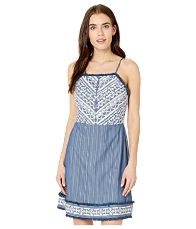 Miss Me Beaded Sleeveless Dress (Navy) Women