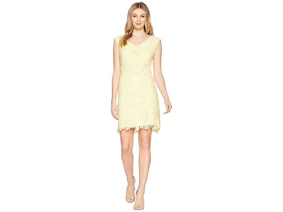 LAUREN Ralph Lauren Heiress Floral Montie Dress (Island Yellow) Women
