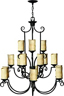 Hinkley 4019OL Transitional 15 Light Chandelier from Casa collection in Blackfinish,