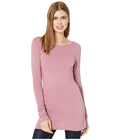 Hard Tail Long Skinny Tee (Dusty Rose) Women