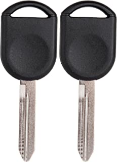 SCITOO Compatible with Ignition Key, 2X New Replacement Uncut Ignition Key Transponder Blank fit Ford Lincoln Mercury