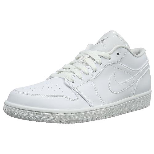 e6f983354f0 Jordan 1 Low White  Amazon.com