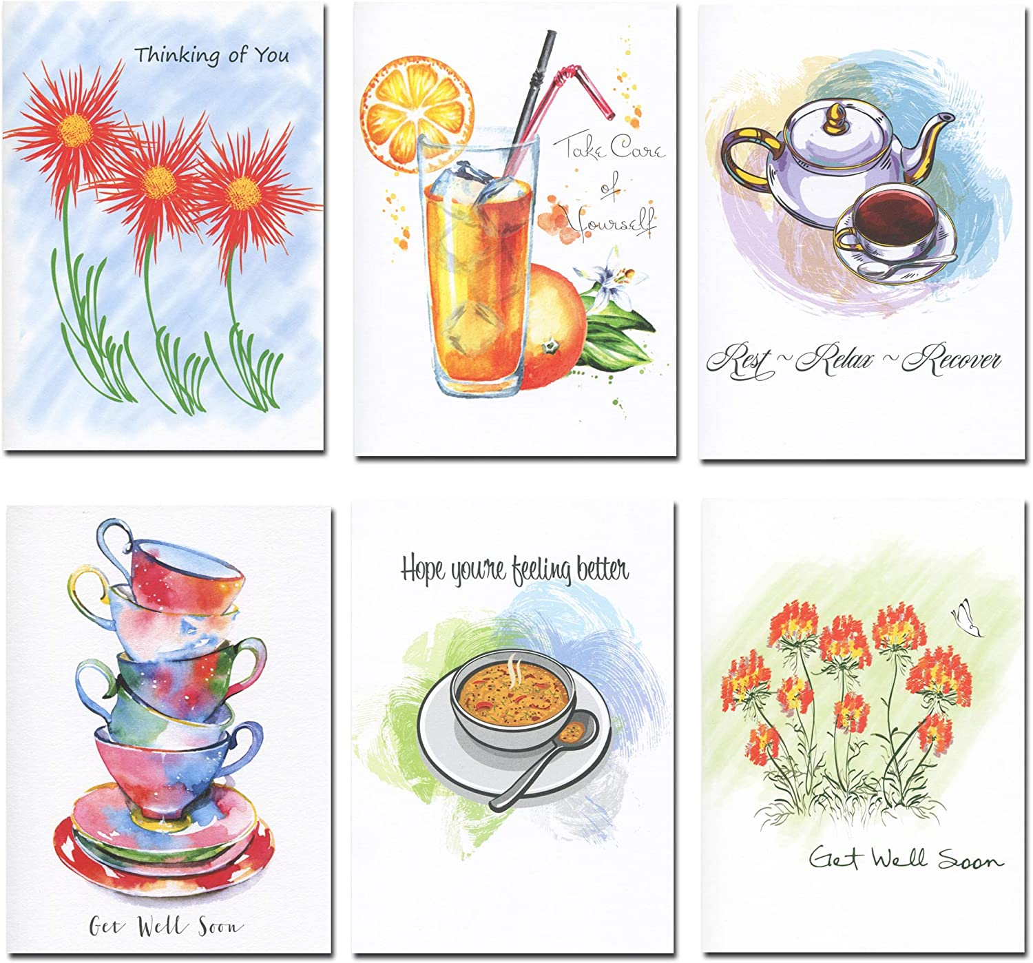 Get Well Greeting Cards OFFicial Assorted Our shop most popular 30 cards inside messages w 6