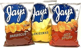 JAY'S BIG BAGS Hot stuff Original & Bar-B-Que Potato Chips 3 Pack 10oz bags