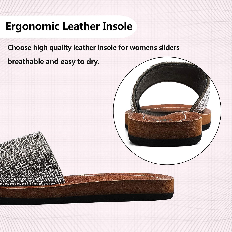 ARRIGO BELLO Claquette Femme Slide Sandale Semelle en Latex /ét/é Mode Nu Pied Mules Douce Flip Flop Chaussures Piscine Taille 36-41