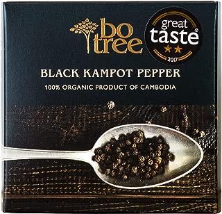 Bo Tree Farms Organic Kampot Pepper, Black Peppercorns, 3.2 Ounce