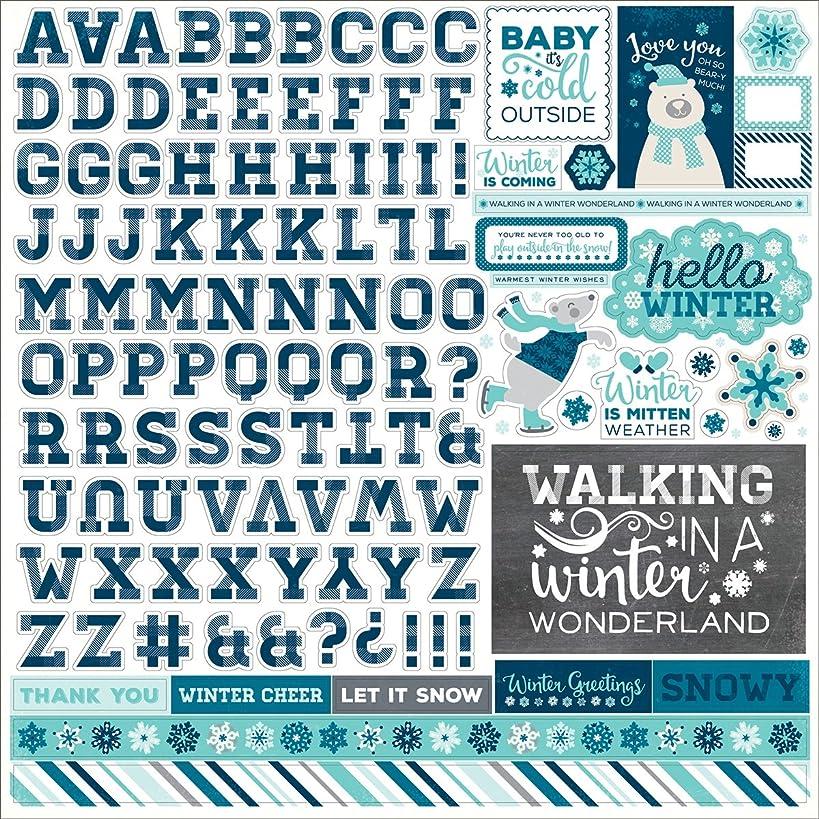 Hello Winter Cardstock Stickers 12