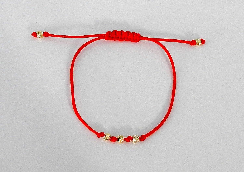 Red String Wrap Bracelets Dainty Bracelet Lucky Friendship Bracelets Single 14K Gold Filled Seamless Bead Lucky Red Bracelet