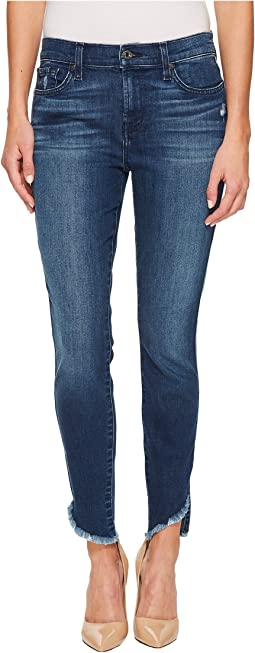 7 For All Mankind - The Ankle Skinny w/ Raw Angled Hem in 5th Ave