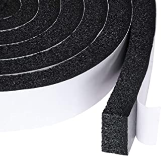 Open Cell Foam Air Conditioner Weather-Strip Seal Tape 2 X 1 Inch, Thick Adhesive with High Resilience Foam Cushion Strip, 6.5 Feet Long