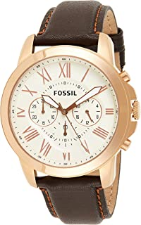 FOSSIL Leather Wrist Watch For Men