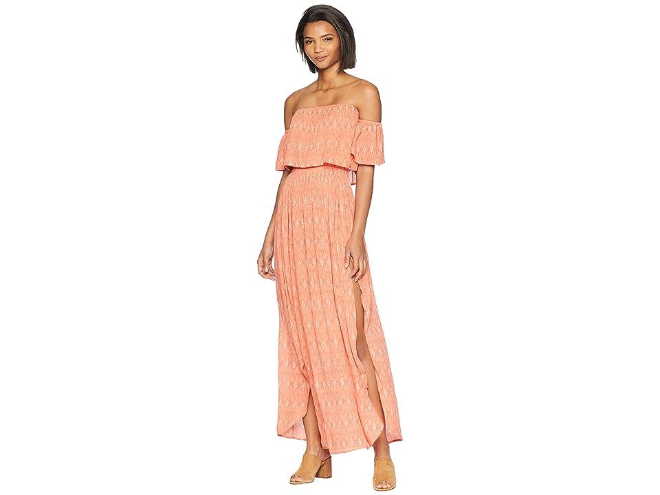 Rip Curl Saltwater Maxi Dress (Coral) Women