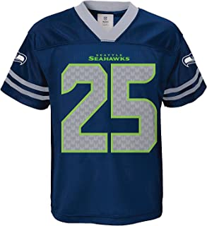 Richard Sherman Seattle Seahawks Navy Youth NFL Player Home Jersey