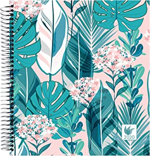InnerGuide 2020 Planner - 2020 Calendar Year - 8x9 Inch Appointment Book - Daily Weekly & Monthly - by Inner Guide Life Planners (Rainforest Cover)