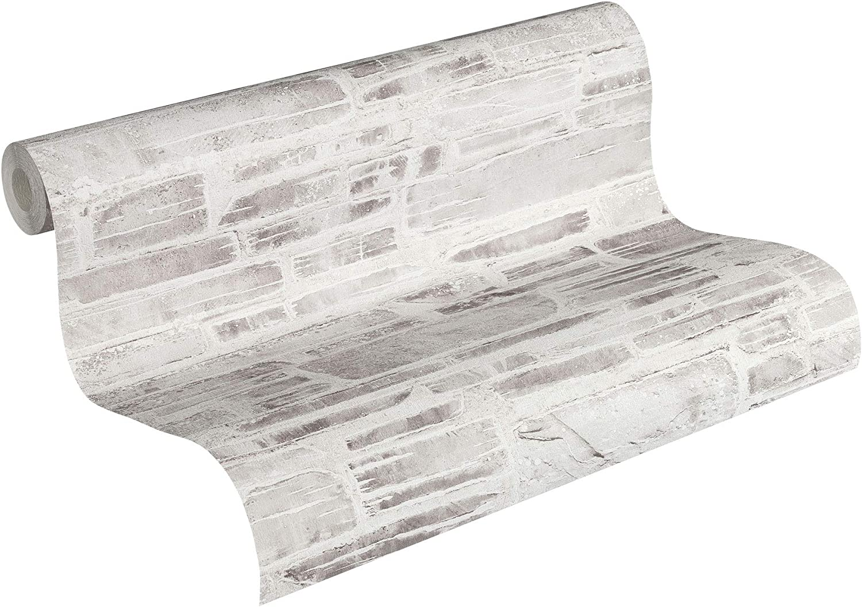 Papier peint mur pierre vintage Papier peint gris et blanc 36459-3 Papier peint pierre grise /& blanche Papier peint clair bureau chambre