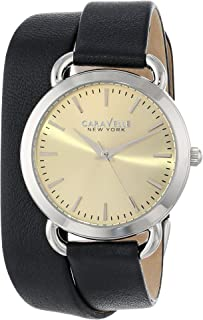 Caravelle New York Women's 43L163 Analog Display Japanese Quartz Black Watch