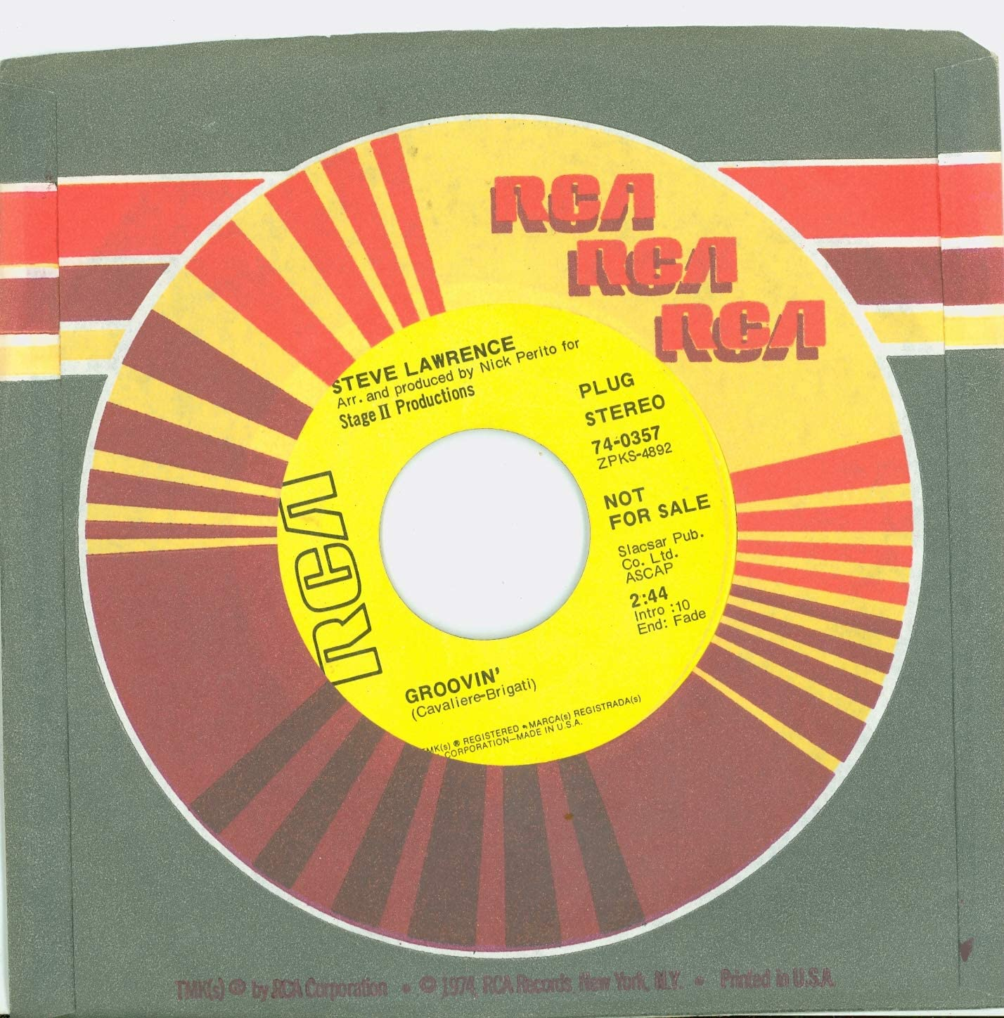 Max 55% OFF Groovin' Being Alive - Steve Victor Lawrence 1970 RCA unisex Records