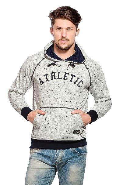Alan Jones Men's Printed Hooded Cotton Sweatshirt