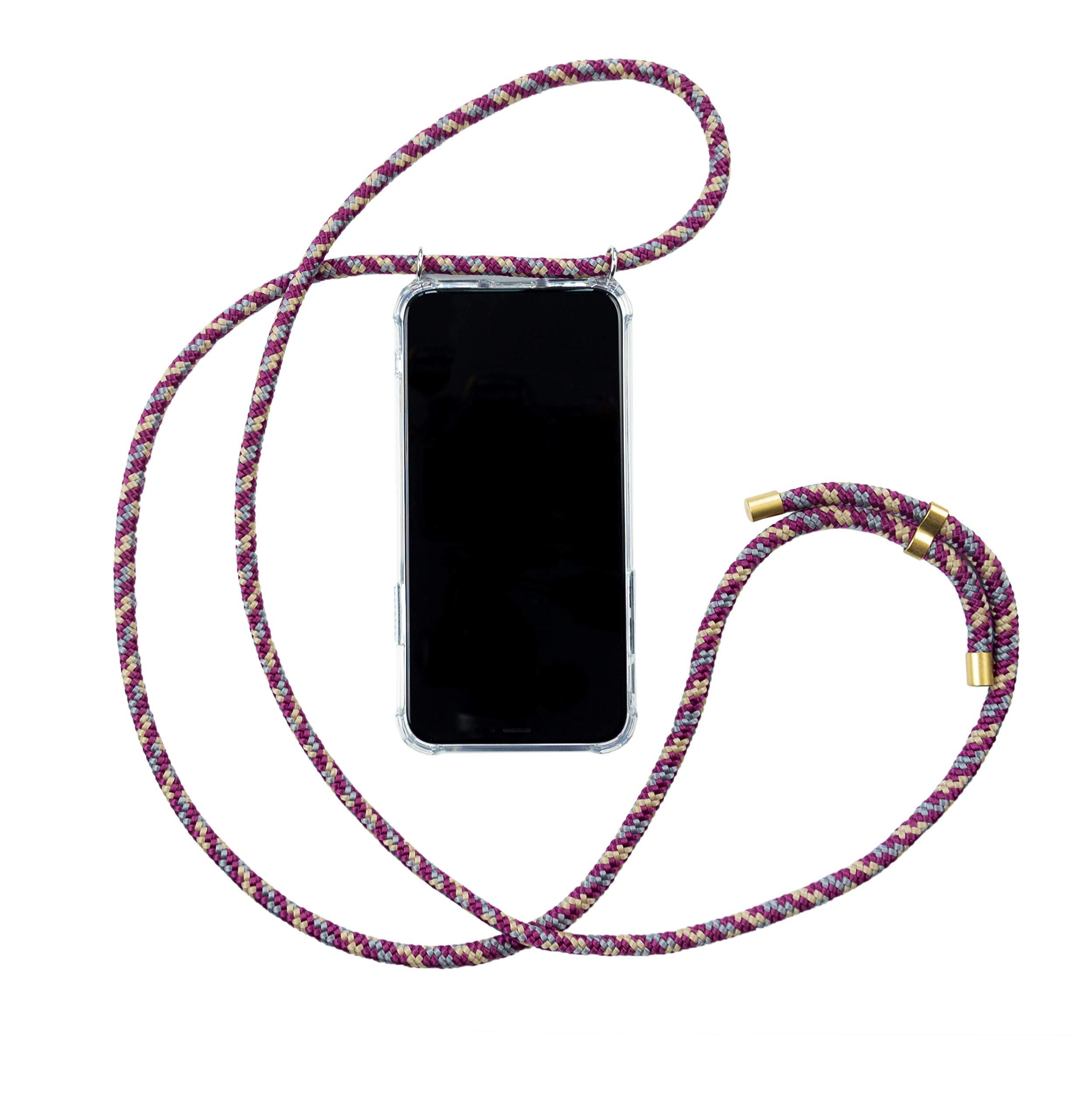 Hanek Funda iPhone 11 Funda de móvil con cordón para Colgar – Cuerda para Llevar en el