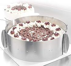 Molde para tarta - Tartas de ensueño para cualquier ocasión - Molde redondo de acero inoxidable ajustable mediante pinzas - Altura: 8,5 cm – Made in Germany