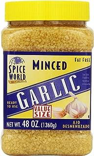 Spice World Fat Free Minced Garlic, 48 Ounce