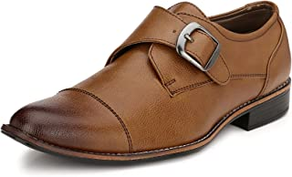 Sir Corbett Men's Synthetic Monk Strap Formal Shoes