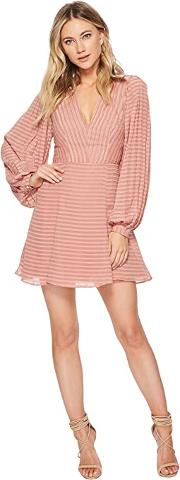 Waterfall Long Sleeve Dress