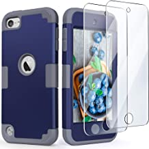 iPod Touch Armor Case with 2 Screen Protectors, IDweel 3 in 1 Hard PC Case + Silicone..