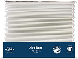 Best Aprilaire - 401 A1 401 Replacement Filter for Whole House Air Purifier Model: 2400, Space Gard 2400, MERV 10,White, (Pack of 1) Review