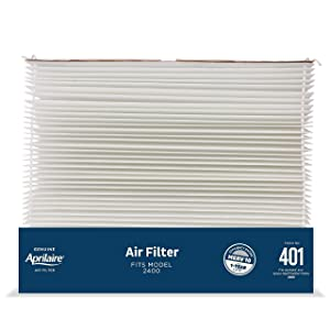 Aprilaire 401 Replacement Furnace Air Filter for Aprilaire Whole Home Air Purifier Models: 2400, Aprilaire or Space Gard 2400, MERV 10 (Pack of 10)