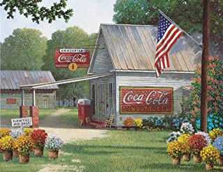 Springbok Puzzles - Coca-Cola Country General Store - 500 Piece Jigsaw Puzzle - Large 23.5 Inches by 18 Inches Puzzle - Ma...