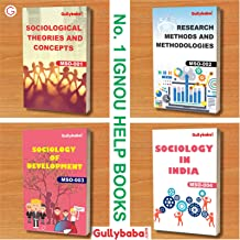 GullyBaba IGNOU MA (Latest Edition-2019) Sociology MSO-1 MSO-2 MSO-3 MSO-4 (English Medium) First Year COMBO of IGNOU Help Books with Solved Previous Years' Question Papers Important Exam Notes