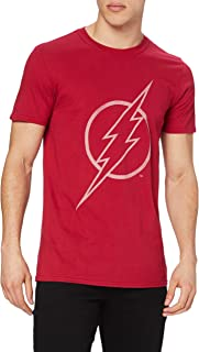 DC Comics Men's Flash Line Logo T-Shirt