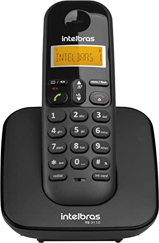 Telefone sem Fio Intelbras TS 3110, intelbras, Preto