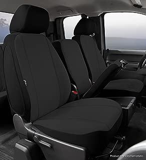 Fia SP87-35 BLACK Custom Fit Front Seat Cover Split Seat 40/20/40 - Poly-Cotton, (Black)