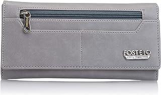 Fostelo Grey Satin Women's Fold Wallet (FC-45)