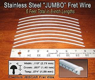 Guitar/Bass Fret Wire - Jescar Stainless Steel JUMBO - Six Feet