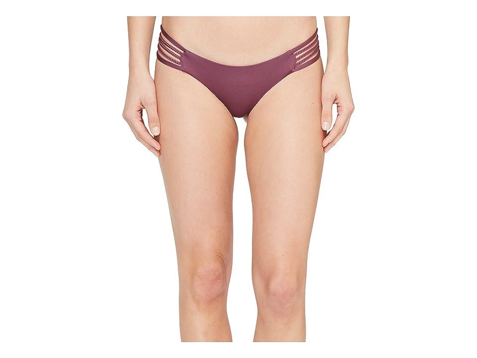 Vitamin A Swimwear Jaydah Braid Bottom Full (Tea Rose Ecolux) Women