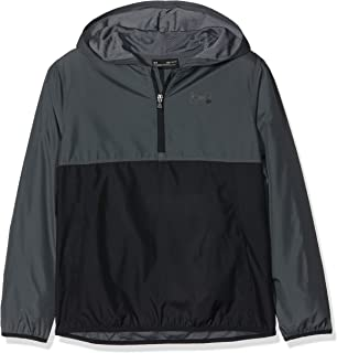 Under Armour Packable 1/2 Zip Jacket, Pitch Gray//Black, Youth