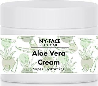 NY Face's Aloe Vera Cream -120 ml - 100% Organic Aloe & All Natural, Reduce Inflammation, After Sun explosure - Ph Balance...