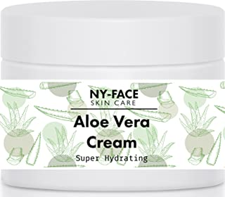NY Face's Aloe Vera Cream -120 ml - 100% Organic Aloe & All Natural, Reduce Inflammation, After Sun explosure - Ph Balanced Cream Helps To Soften Your Skin And Keeps It Smooth And Glowing